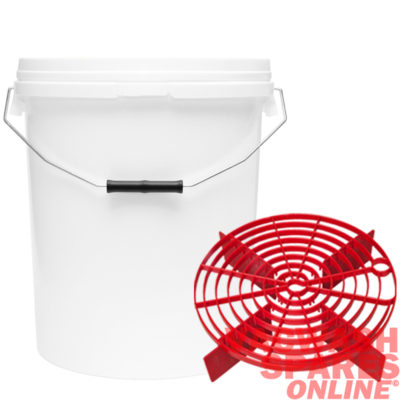 20 Litre Bucket & Scratch Shield Red