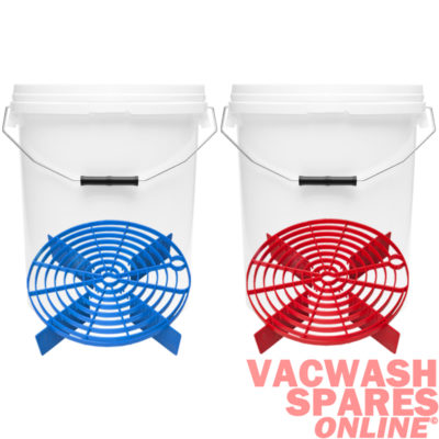 20 Litre Buckets & Scratch Shield Blue & Red