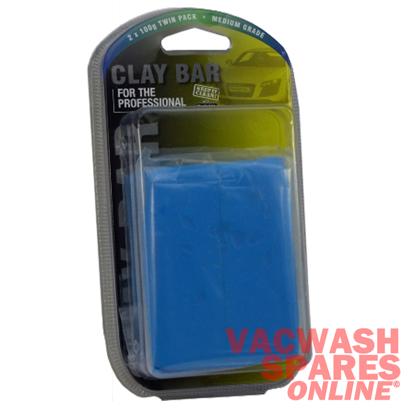 Light Blue Medium Grade Clay Bars Twin Pack (200g)