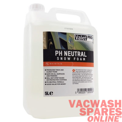 ValetPro Ph Neutral Snow Foam 5 Litre